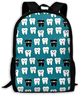 Gfduyfgh Tooth Fabric Way of The Ninja Tooth Cute Backpack Suitable for Junior High School Girls Boys Animal Bag Printing Shoulder Bag