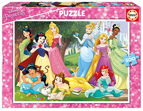 Educa Borras - Serie Disney, Puzzle 500 piezas Princesas Disney (17723)