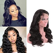 Body Wave Lace Front Wig Human Hair Indian Wigs For Black Women 13x4 Frontal Swiss Pre Plucked With Baby Hair 150 Density Bleached Knot Glueless Can Be Middle Part Grade 8a Cheap Prime 22 Inch