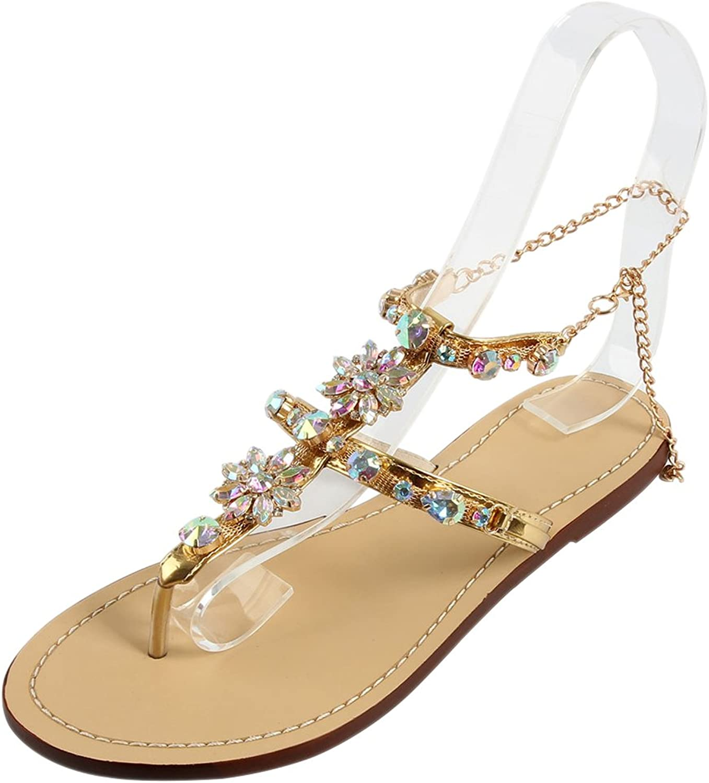 BOZEVON Women's Summer Peep Toe Bohemia Open-Toed Sandals shoes