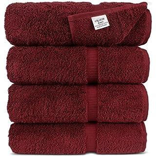 Chakir Turkish Linens Turkish Cotton Luxury Hotel & Spa Bath Towel, Bath Towel - Set of 4, Cranberry (B00O2QJXB0)   Amazon price tracker / tracking, Amazon price history charts, Amazon price watches, Amazon price drop alerts