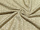 Minerva Crafts Pailletten Boucle Tweed Kleid Stoff Gold – Meterware