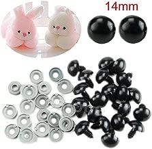 Simdoc 20pcs 14mm Black Plastic Safety Eyes for Teddy Bear/Dolls/Toy Animal/Felting