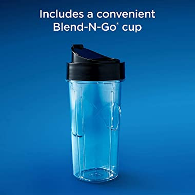 Oster Master Series Blender with Texture Select Settings, Blend-N-Go Cup and Glass Jar, Grey