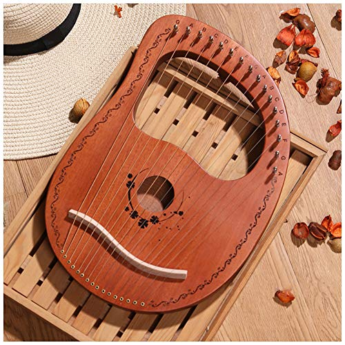 Lyre Harp Portable 16 Metal Strings, Musical Instrument Sound Harp, Musical...