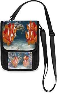3D Aquarium Fish And Plants Travel Wallet Passport Holder Family Women Men Document Card Organiser Passport Holder Organizer for Passports,Credit ID Cards,Flight Tickets, Money