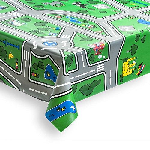 haga-wohnideen 1,4m² Wachstuchtischdecke Highway Schutzdecke abwaschbar in 140cm Breite (Meterware)