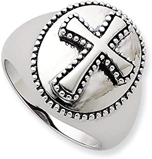 925 Sterling Silver Boldness Band Ring Man Religious Fine Jewelry Dad Mens Gift Set