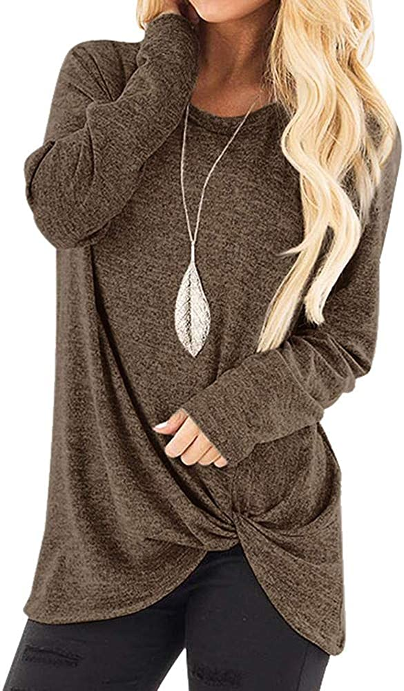 AODONG Women Sweatshirt, Womens Color Block Shirts Long Sleeve Crewneck Floral Printed Sweatshirts Loose Casual Blouses