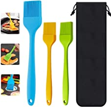 cyrico Basting Brushes Silicone Heat Resistant Pastry Brushes Baste Butter Oil Sauce Marinades for Cooking Baking Barbecue Grilling, BPA Free & Dishwasher Safe(3 Pack)