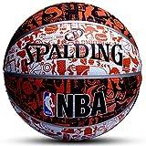 Qylfsxb Palla da Basket Originale Spalding Basketball 7th Student Kids Indoor Outdoor NBA Competizione Resistente all'Usura Attrezzatura da Basket Pallone da Basket