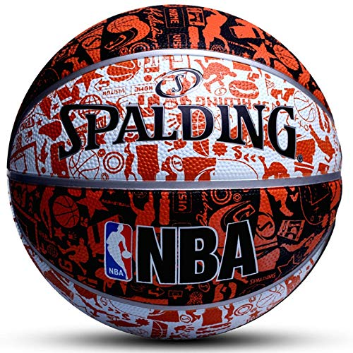 Qylfsxb Palla da Basket Originale Spalding Basketball 7th Student Kids Indoor Outdoor NBA Competizione Resistente all'Usura Attrezzatura da Basket Pallone da Basket