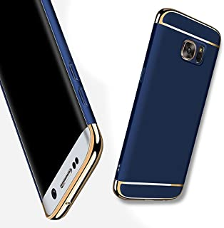Luxury Ultra-Thin Hard Back Case Cover for Samsung Galaxy Phones (Dark Blue, Samsung Galaxy S8)