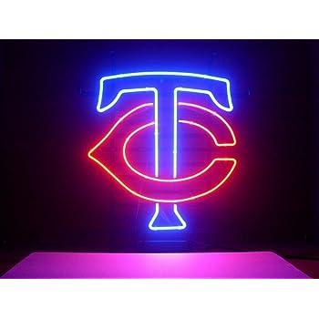 """New Minnesota Twins Light Bar Decor Neon Sign 24/"""" with HD Vivid Printing"""