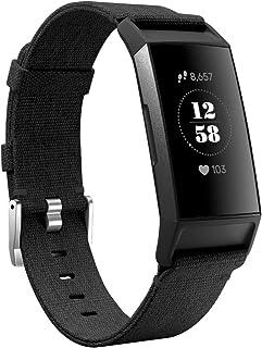 KIMILAR Bransoletki kompatybilny z Fitbit Charge 4 / Charge 3 z materiału, szybkozamykaczem, nylonowy pasek zamienny do tr...