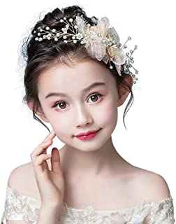 Campsis Gold Flower Wedding Headpiece Lovely First Communion Headband Princess Bridal Hair Accessories for Flower Girls
