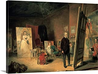 GREATBIGCANVAS Gallery-Wrapped Canvas Entitled 'Portrait of Sir Francis Grant in his Studio' Painting by John Ballantyne by 30
