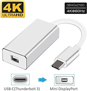 Esamconn Type C USB a Mini DP DisplayPort MDP UHD 4K Full HD 1080P AV Video Converter Adapter para MacBook, DELL XPS 13, ChromeBook Pixel, Galaxy S8 / S8 + y más