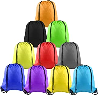 LUCWI Multicolor Drawstring Backpack,  Sports Cinch Sacks String Backpack Bags for Traveling Gym Yoga Storage Gift
