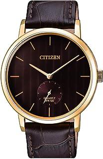 ساعة كوارتز للرجال من سيتيزن، بعرض انالوج وسوار من الجلد - BE9173-07X