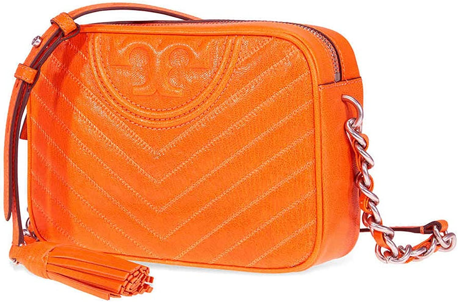Tory Burch Women's Fleming Distressed Camera Bag