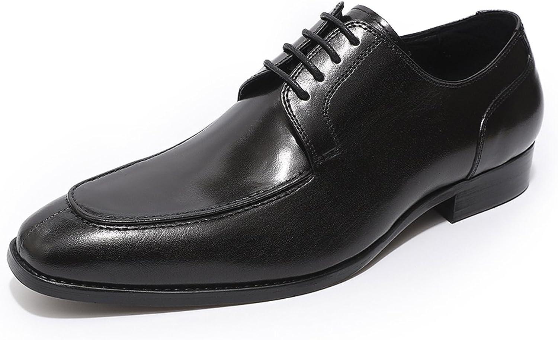 MICON läder läder läder Oxfords skor herr Vintage Derby Lace upp Formal Dress skor  på billigt