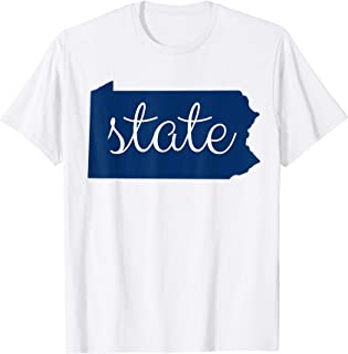 Pennsylvania State Outline Penn Fan Shirt for Men,Women,Kids T-Shirt