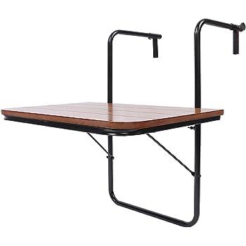 Tavolo da Servizio da Patio Tavolo da Balcone Pieghevole Cocoarm Tavolo da Balcone sospeso Tavolo da Balcone sospeso Tavolo da Balcone con balaustra