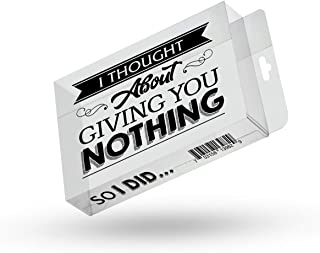 Giving You Nothing So I Did Prank Gift Box Gag for Friends Clear Gift Box Clean Humor Novelty Gags for Family Stocking Stu...