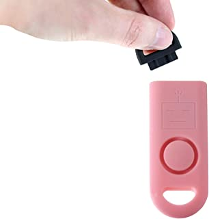 B A S U eAlarm+ with Tripwire Hook, Emergency Personal Alarm, Battery Included, Carabiner Included, Pink