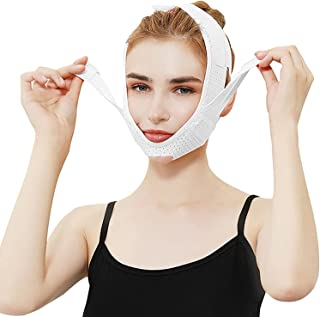 wsbdking Elastisch ademend gezicht afslanken bandage v cheek dubbele kin gezicht massage vormgeven masker anti rimpel gezi...