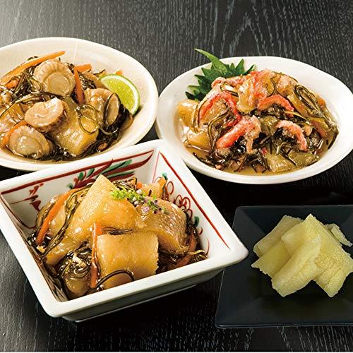 こだわりの味「3種海鮮松前漬け」 (3種2.4kg+塩数の子)