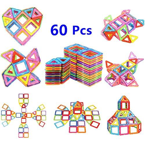 Magnetic Blocks Magnetic Building Blocks Set 60 PCS, Magnetic Tiles, Educational Toys for Baby/ Kids From Ysxuan (60 Pcs Magnetic Building Blocks)
