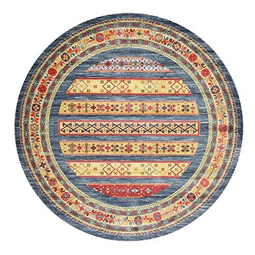 Etnico/Stile/Rotondo/Soggiorno/Camera/Tappeto/Famiglia/Coperta/Americano/Marocchino/Camera da Letto/Comodino/Coperta (Color : D, Size : 250cm)