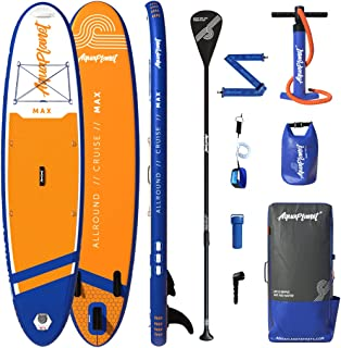 """Aquaplanet 10ft 6"""" x 15cm MAX Stand Up Paddle Board kit. Air Pump with Pressure Gauge,Adjustable Aluminium Floating Paddle..."""