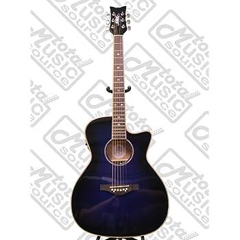 Daisy Rock Wildwood Artist Acoustic-Electric Guitar, Royal Blue Burst