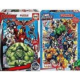 Educa Avengers, Puzzle Infantil De 200 Piezas, A Partir De 6 Años (15933) + Héroes Marvel Puzzle, 500 Piezas, Multicolor (15560)