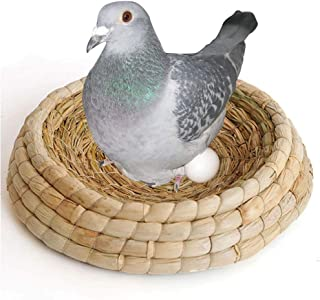 ZYZ Hecho a Mano Tejido Nido de Ave Lecho de cría Loro Caja de nidificación Jaula