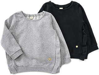 【ママとおそろい】dolcina (ドルチーナ) サイドフリルトレーナー (80~140cm) キムラタンの子供服 (33382-184) モクグレー 120