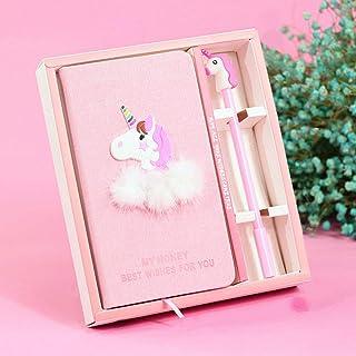b88fe05432 Juego de bolígrafos de gel para cuaderno – lindo unicornio diario papelería  Set regalo de cumpleaños