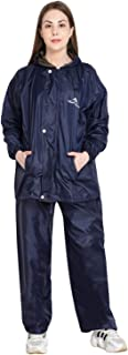 Zacharias Women's Waterproof Double Layer Reversible Raincoat with Pant