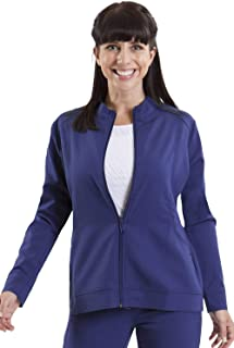 healing hands Purple Label Women's Dakota 5038 Zip Up Scrub Jacket Scrubs