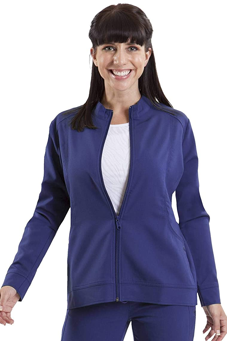 healing hands Purple Label Women's Dakota 5038 Zip Up Scrub Jacket Scrubs