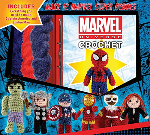 Character Crochet Kits w/ Accessories: Marvel Spider-Man & Captain America $9.90, Star Wars Yoda $9.26 + FS w/ Amazon Prime, FS on $25+ or FS w/ Walmart+, FS on $35+