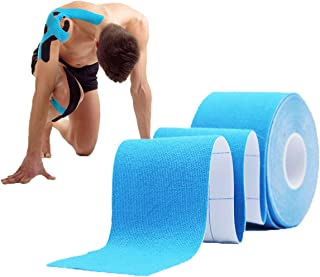 """Kinesiology Tape Muscle Pain Relief Stickers 5cm*5m (1.97x197"""") Full Cotton Professional Sports Tape Latex Free Water Resi..."""