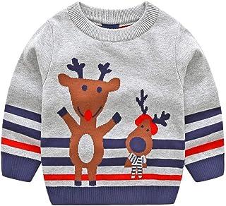 42c625c48 POLP Niño Invierno Unisex Camiseta de Manga Larga para niños Otoño Invierno  Bebe Niña Pulóver Camisa