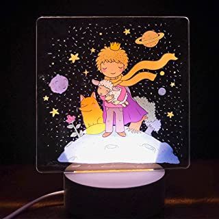Lampada led Piccolo Principe luce notturna cameretta bambini