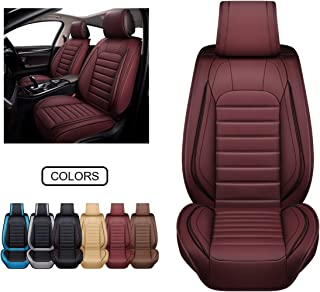 A-Black Red Rain Universal Seat Covers for Cars Leather Seat Cover Black Car Seat Cover 2//3 Covered 11PCS Fit Car//Auto//Truck//SUV