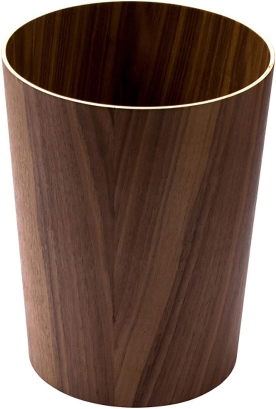 New product SHUTING2020 Garbage Can Simple Wooden Without Lid Home Trash 35% OFF