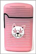 Smokemoji Jet Flame Torch Lighter Adjustable Flame Windproof Butane Refillable (Pink)